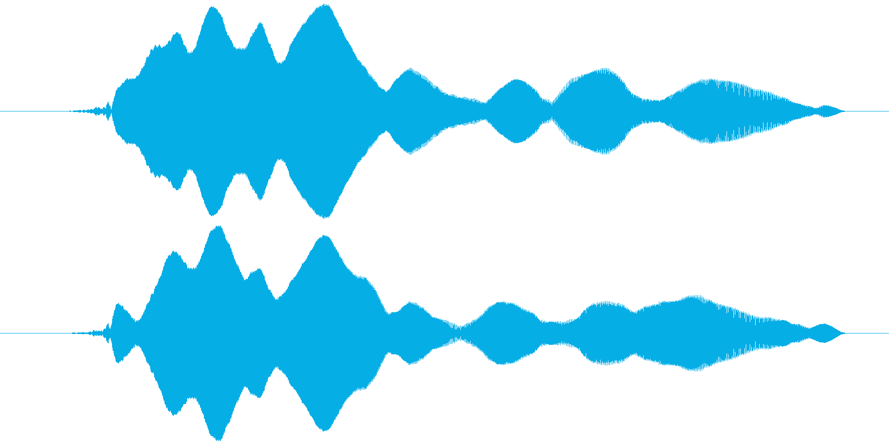 オノマトペ(やや長め下降)ヒヨーォーの再生済みの波形