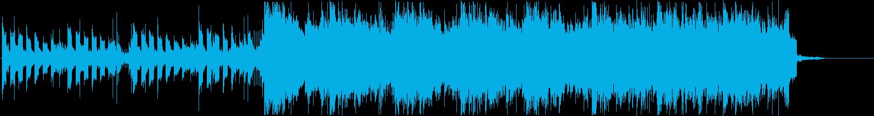 ダークで緊張感のあるスタイリッシュな曲の再生済みの波形