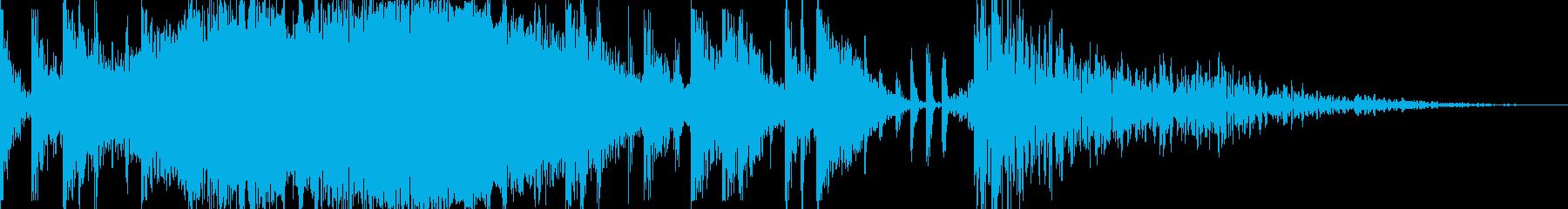 レトロなベースシンセとエフェクトパ...の再生済みの波形