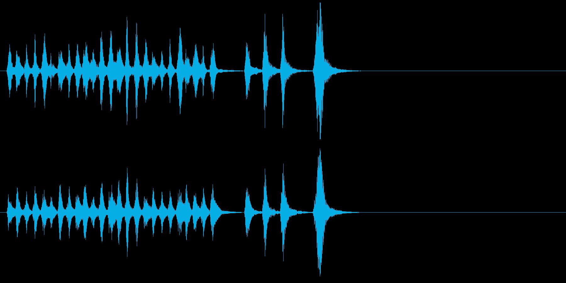 静かな電子音がミステリアスなバラードの再生済みの波形