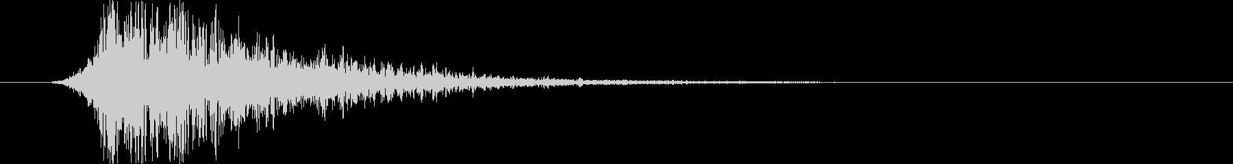 衝撃 バースト01の未再生の波形