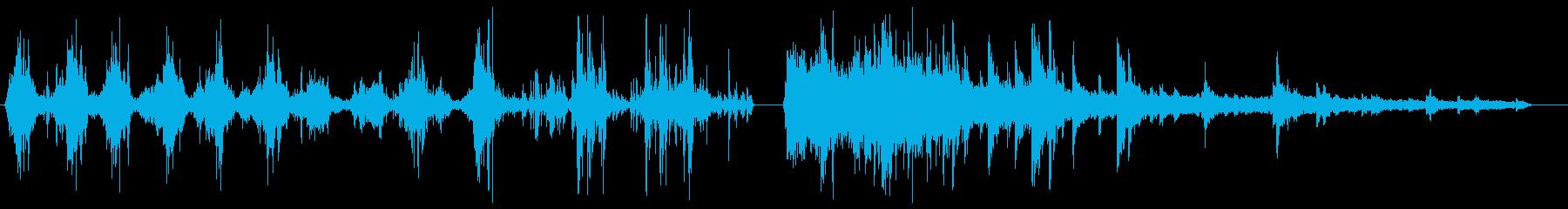 歯を磨いている時の効果音の再生済みの波形