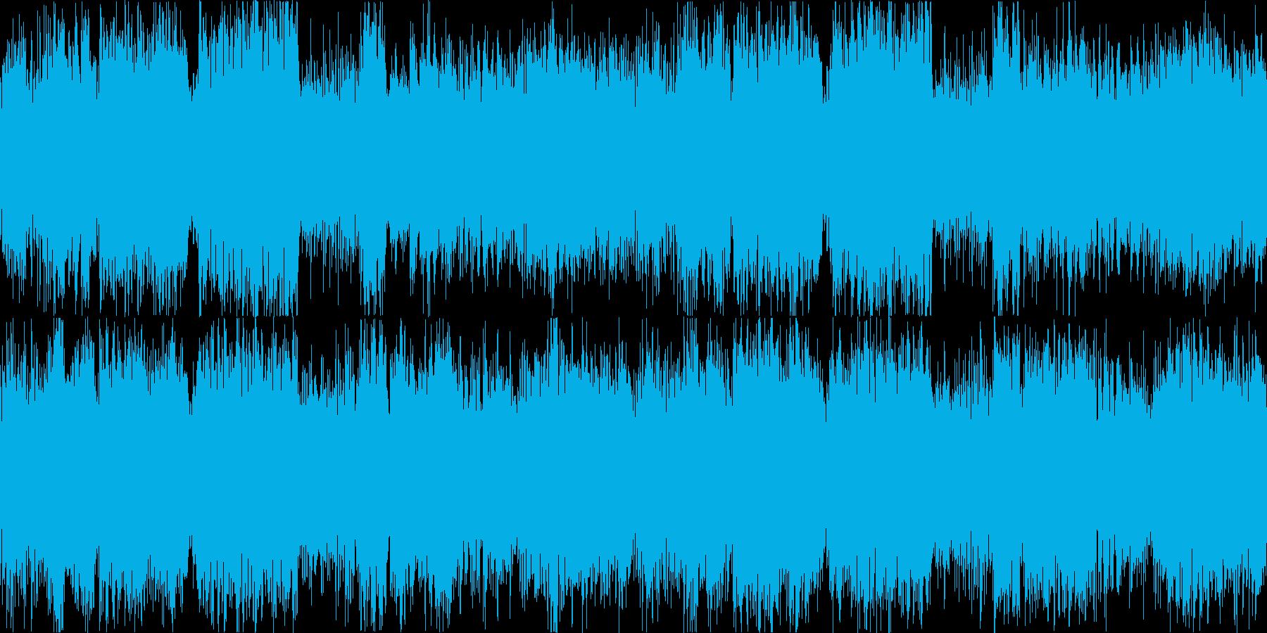 メロディアスなブラスとストリングス戦闘曲の再生済みの波形
