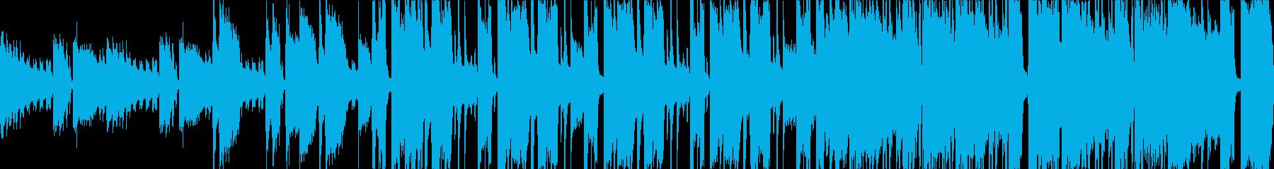 ファンク風のループ素材ですの再生済みの波形