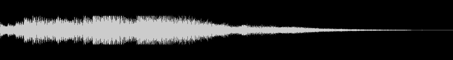スティールタングドラムの不穏なジングルの未再生の波形