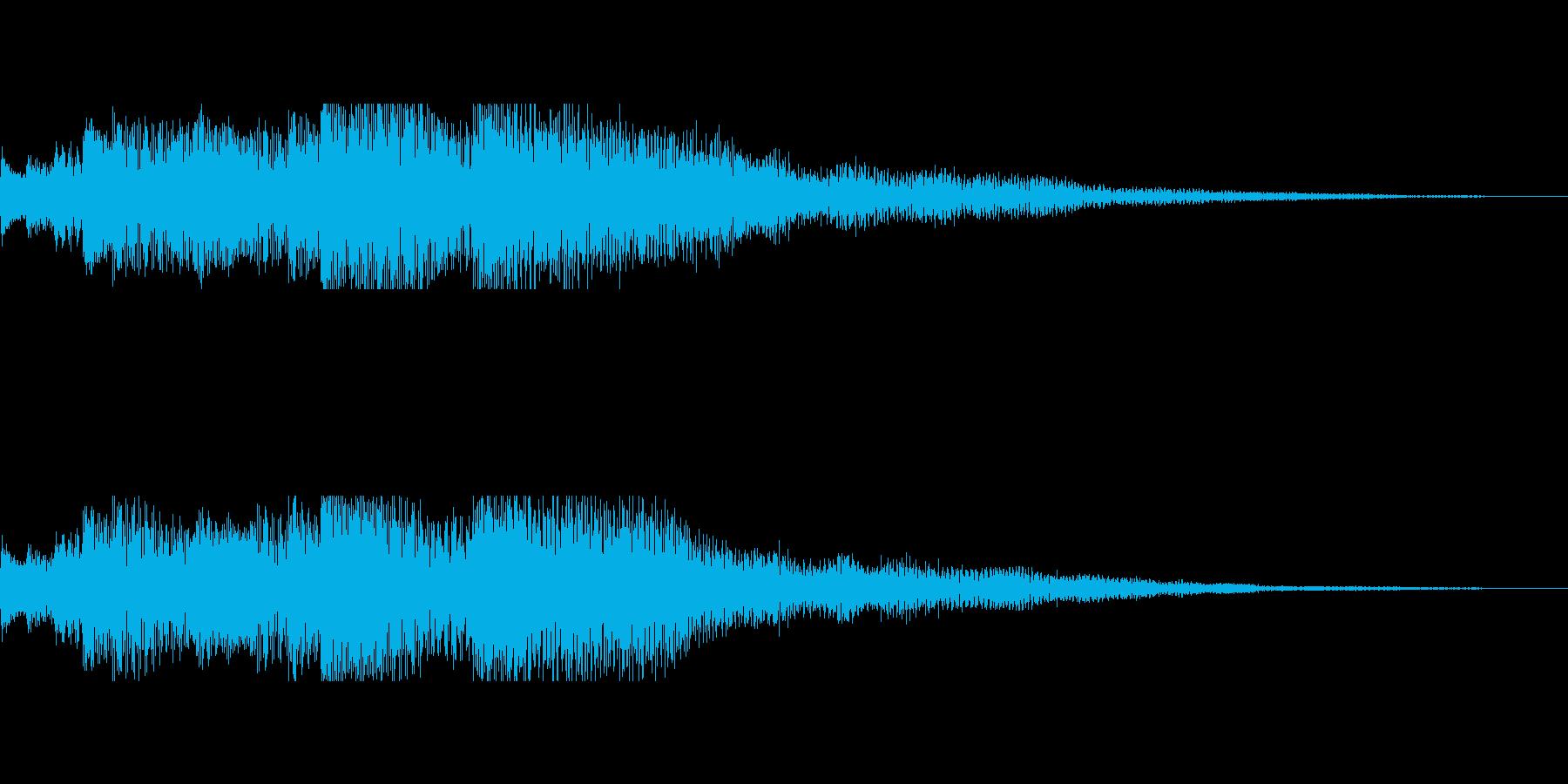 スティールタングドラムの不穏なジングルの再生済みの波形