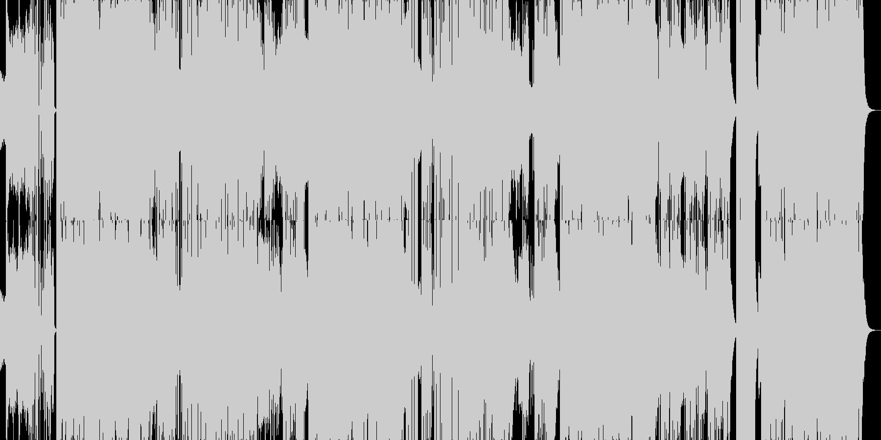 リズミカルでエレクトロなEDMダンス曲の未再生の波形