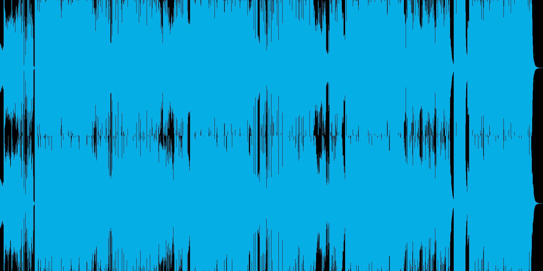 リズミカルでエレクトロなEDMダンス曲の再生済みの波形