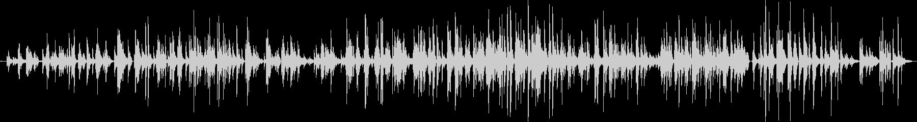 昔のジャズソロピアノの未再生の波形