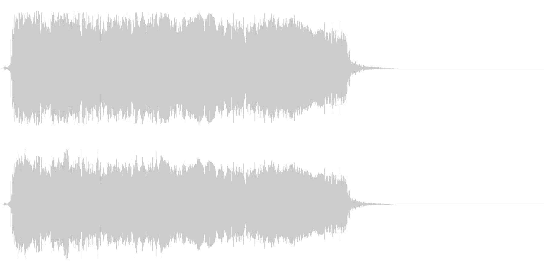 場面転換などに合いそうなロックギタージ…の未再生の波形