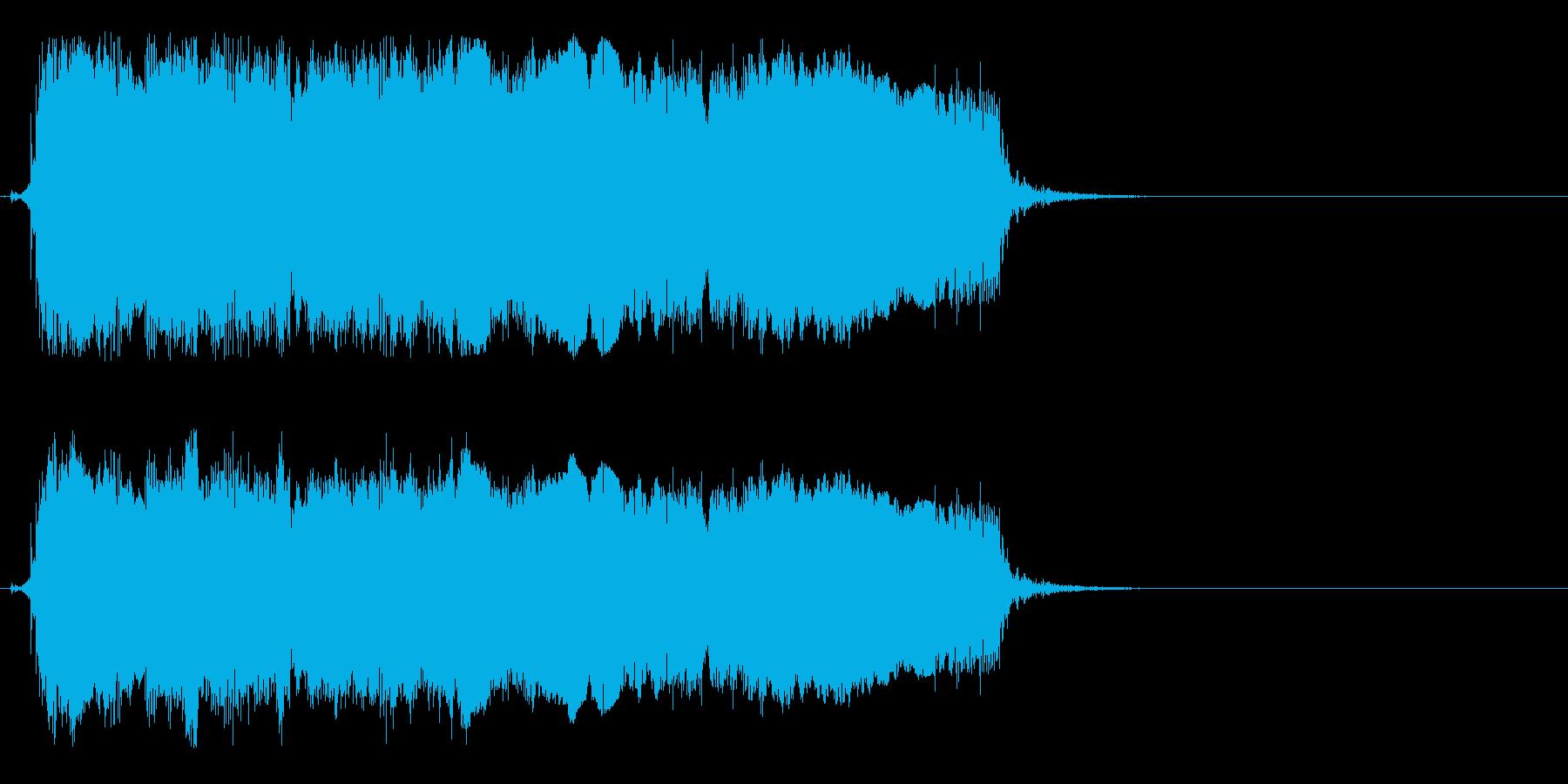 場面転換などに合いそうなロックギタージ…の再生済みの波形