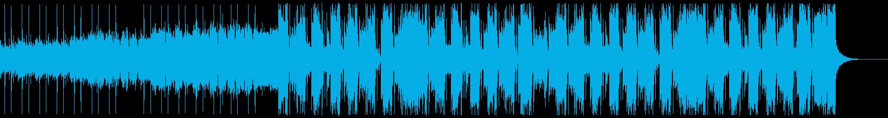 の太い変則ビートの再生済みの波形