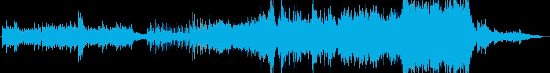 ピアノ奏でる感動的なエンディング風BGMの再生済みの波形