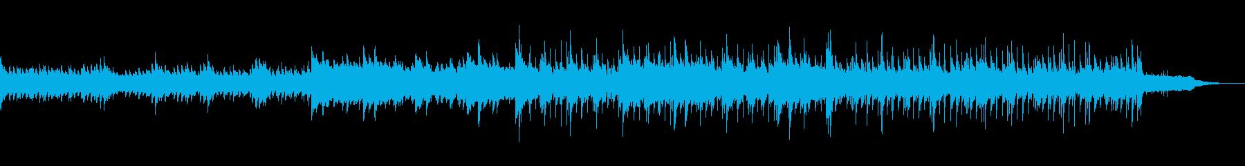 ポジティブを感じるピアノ曲の再生済みの波形