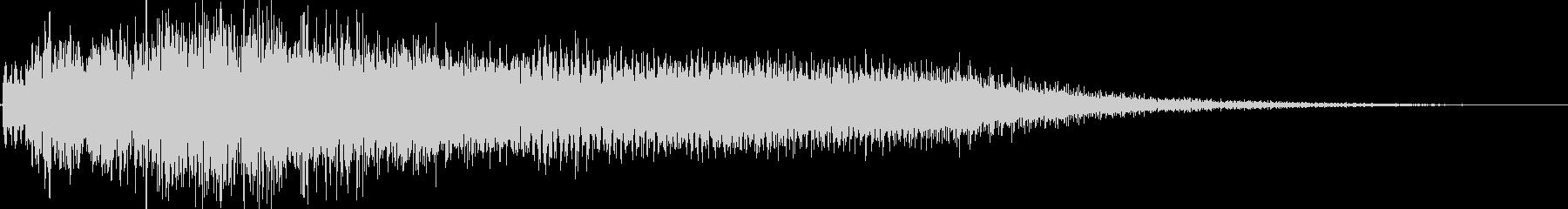 呪い魔法(邪悪なイメージ)の未再生の波形