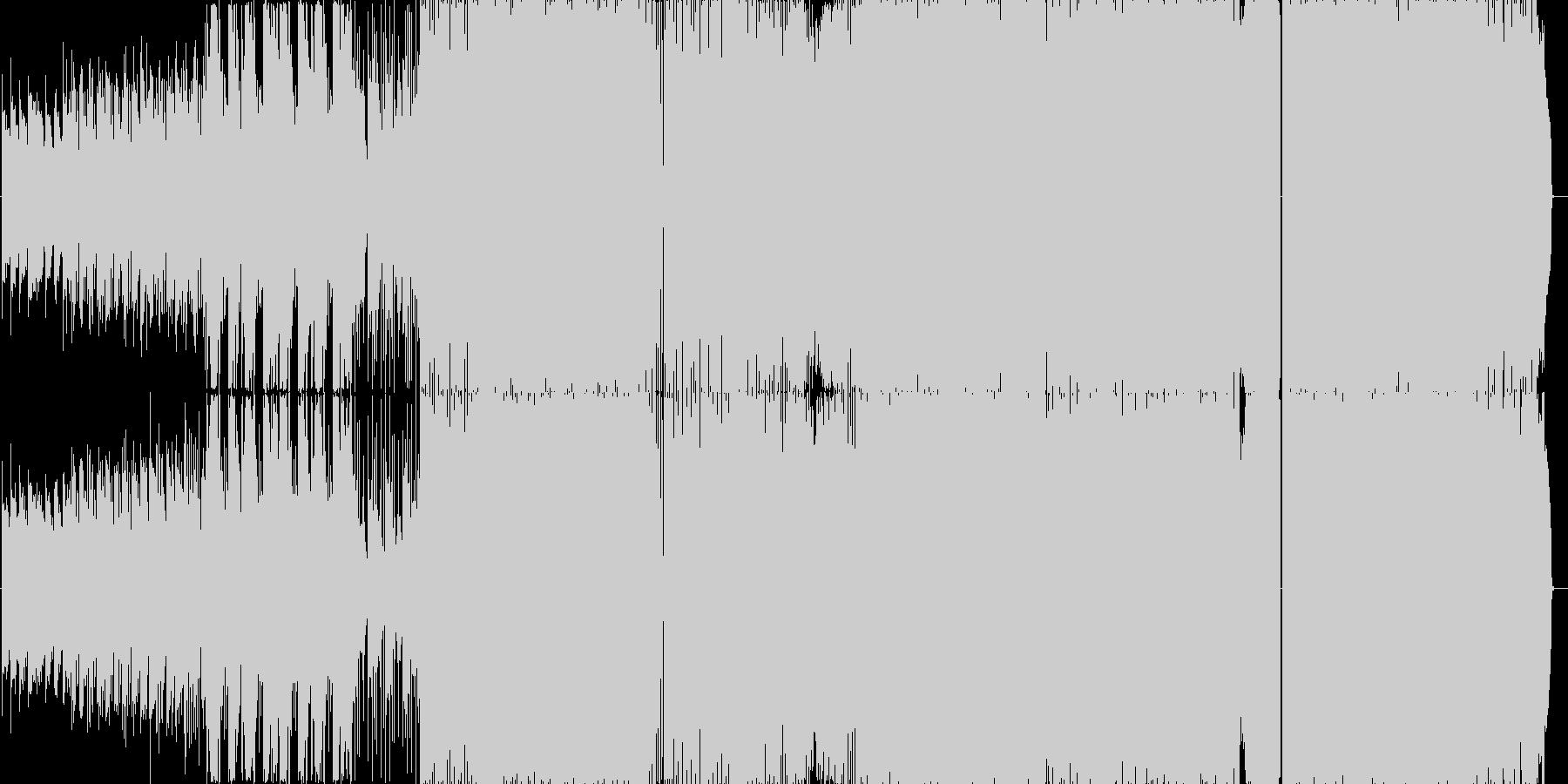 浮遊感系から、幻想的な疾走系へ。生演奏の未再生の波形
