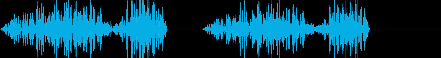DJプレイ スクラッチ・ノイズ 250の再生済みの波形