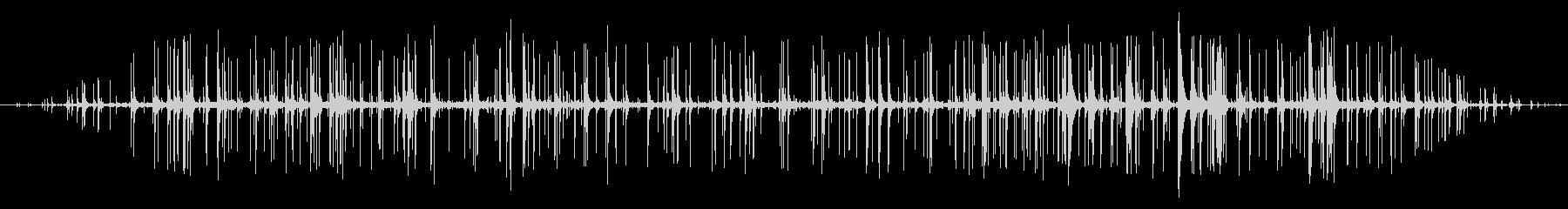 木が燃える音の未再生の波形