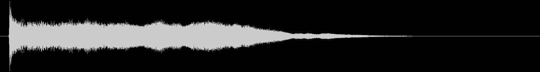 神秘的で透明感のあるインパクト音3の未再生の波形