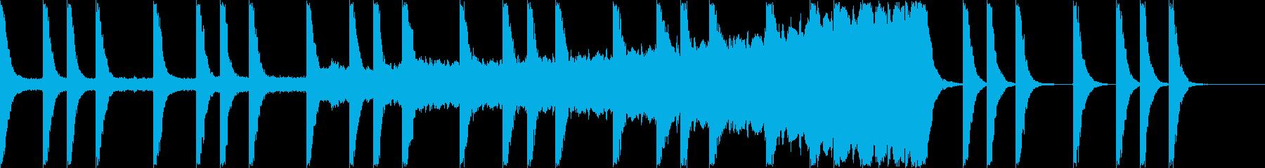 セミの鳴き声と不気味な金属音の再生済みの波形