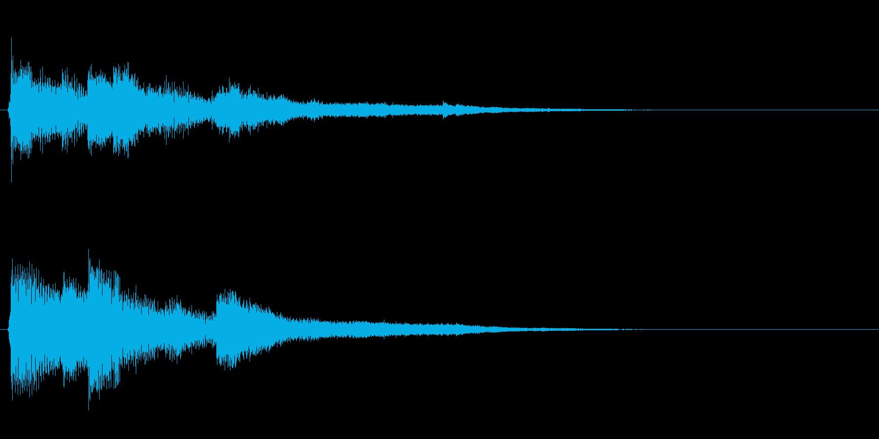 ピアノジングル02_dの再生済みの波形