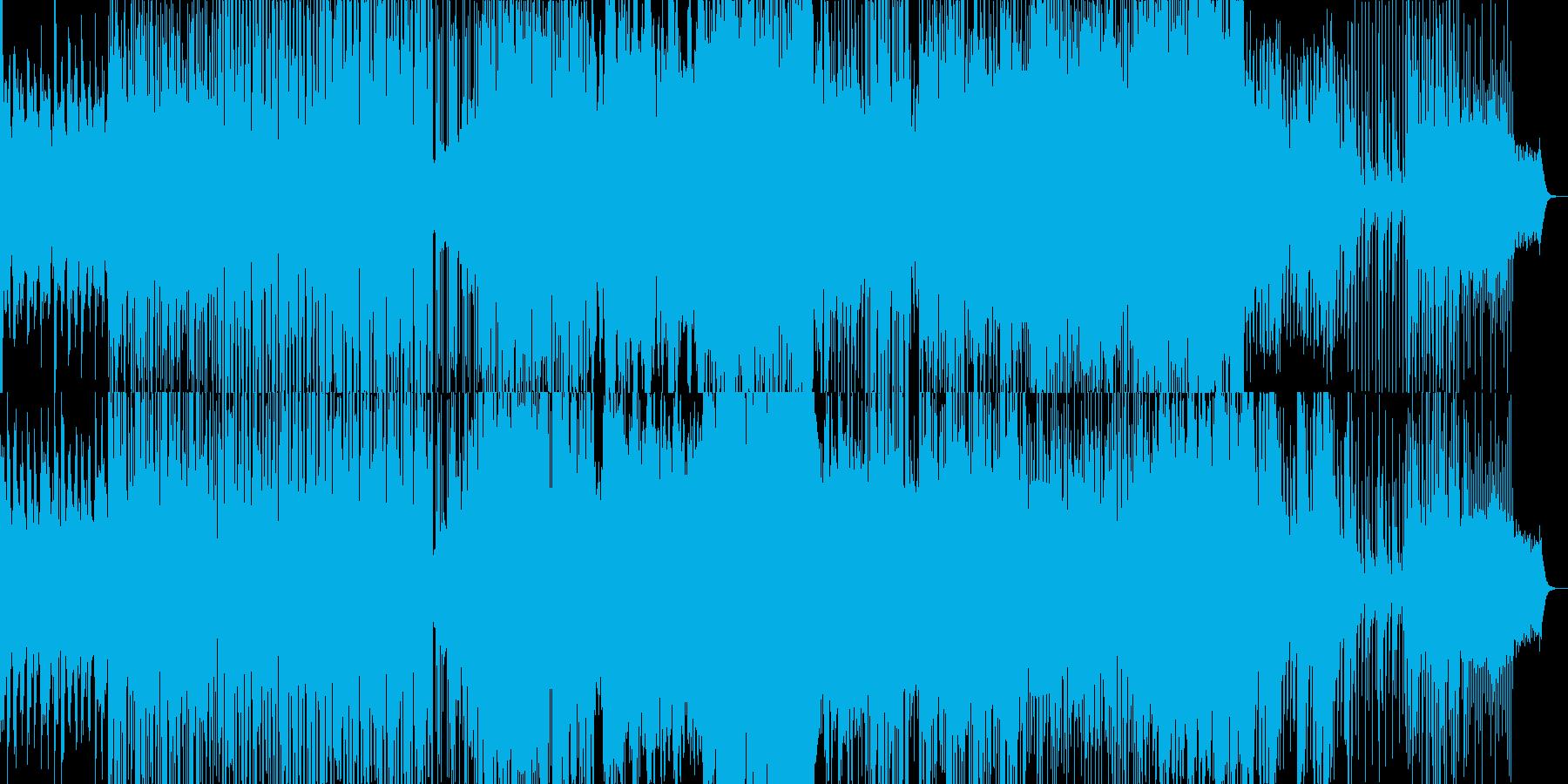 ウェットでドラマティックなBGMの再生済みの波形