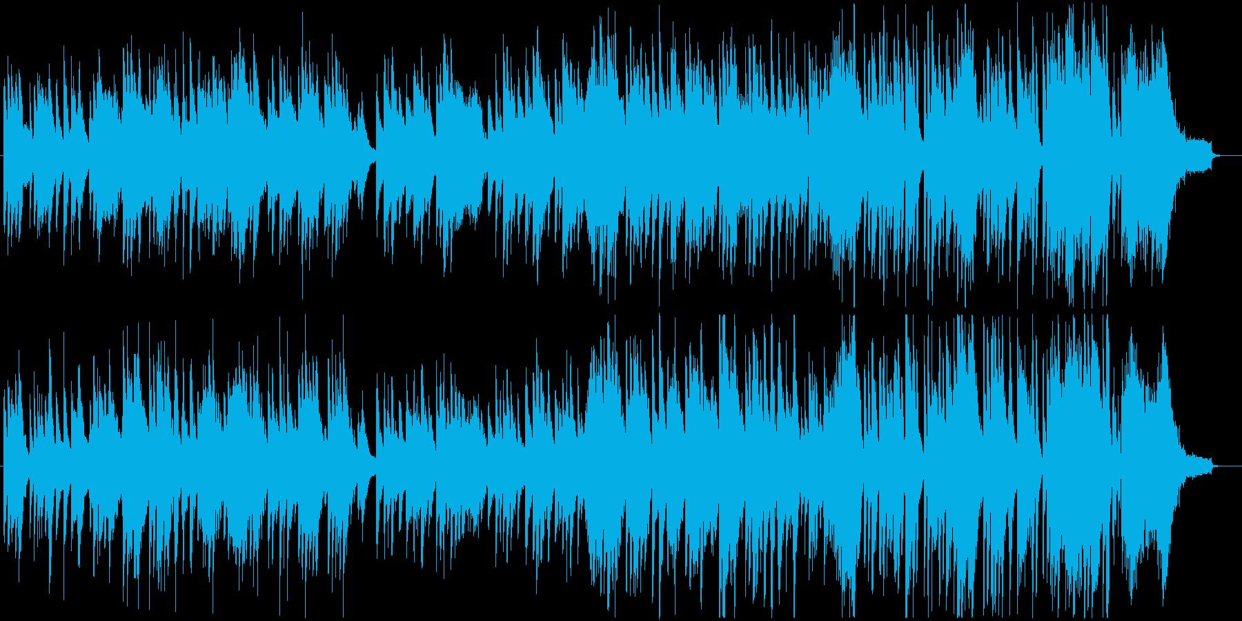 琴とピアノの日本的で和風なBGMの再生済みの波形
