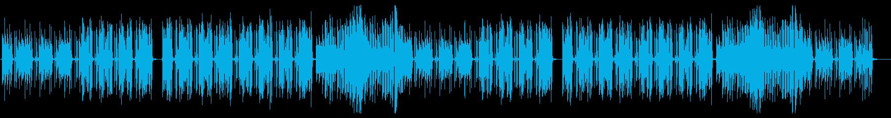 ちょっと渋さのあるブルージーなBGMの再生済みの波形