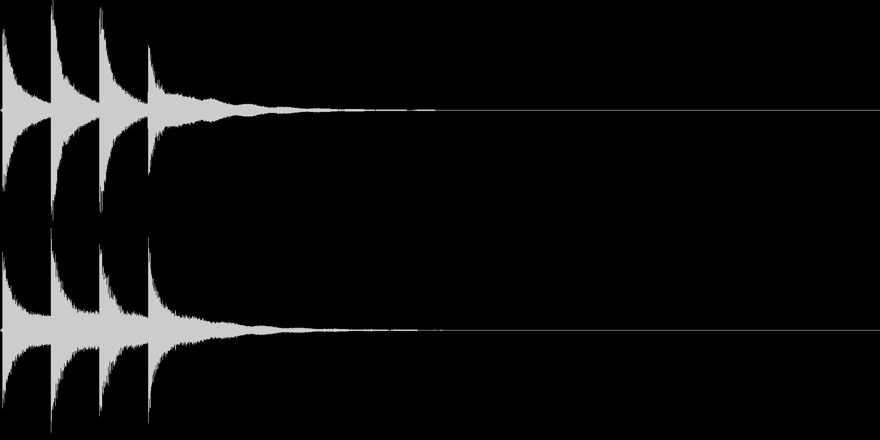 学校のチャイムの効果音(高め)の未再生の波形