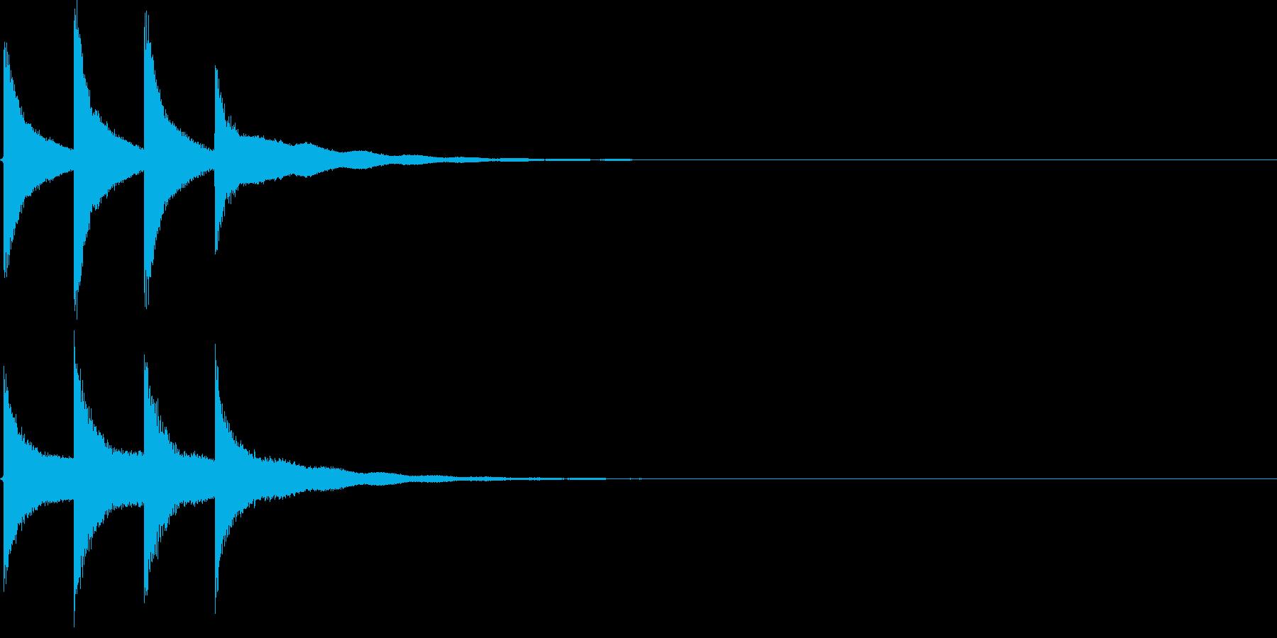 学校のチャイムの効果音(高め)の再生済みの波形