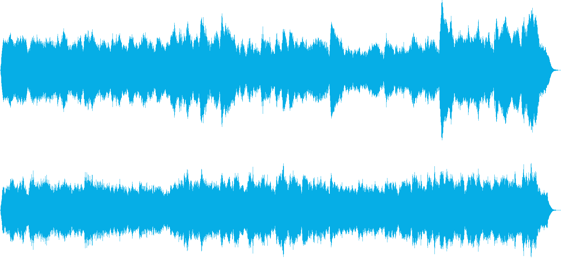 パイプオルガンのバッハ風オリジナル曲ですの再生済みの波形