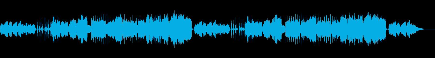 ほのぼのとした田園的なBGMの再生済みの波形