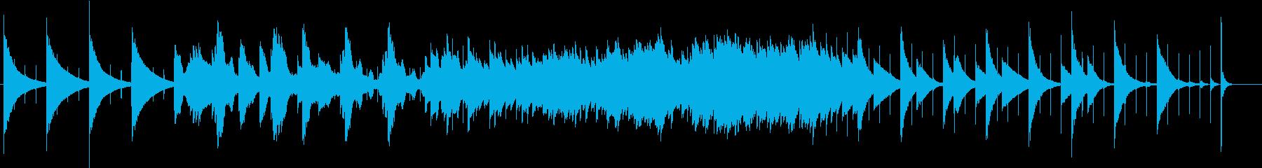 秒針音、悲しげ、ノスタルジーなオルゴールの再生済みの波形
