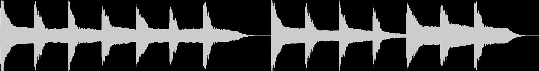 着信音 ループ お知らせ 通知 3の未再生の波形