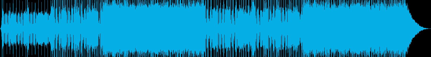 エネルギッシュなインディーロックの再生済みの波形