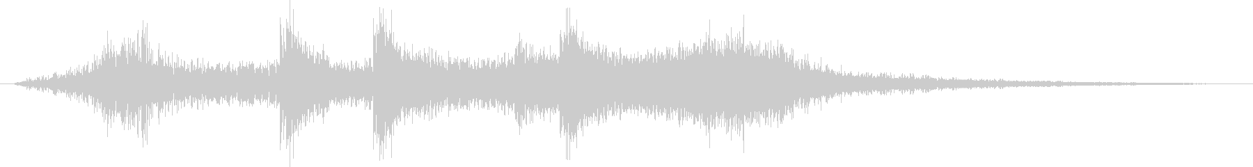 Rock and powerful clap jingle's unreproduced waveform