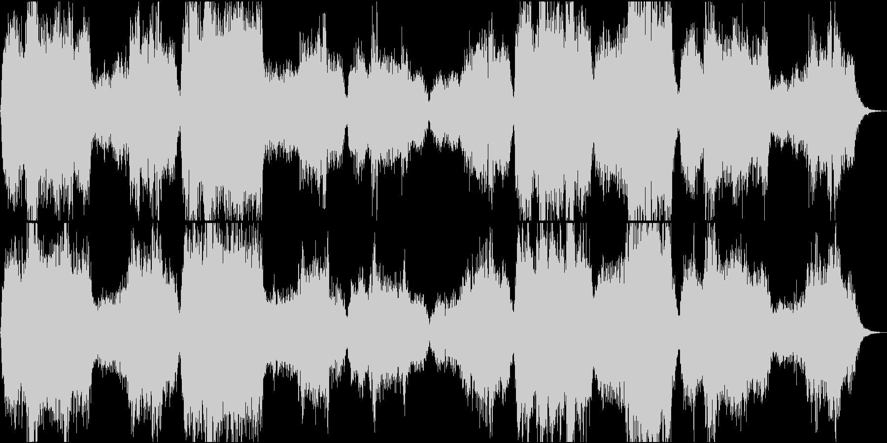 美しいクワイア(聖歌隊)の賛美歌の未再生の波形