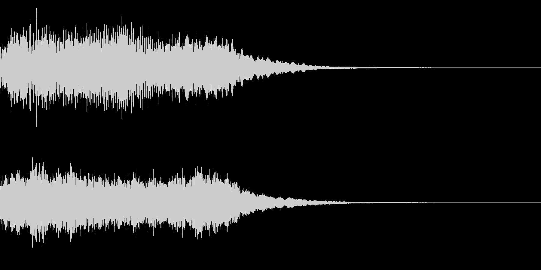 神社 結婚式の笛(笙)和風フレーズ!02の未再生の波形