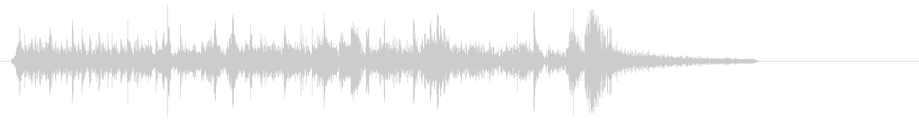 ブーンブツンというマシン停止音の未再生の波形