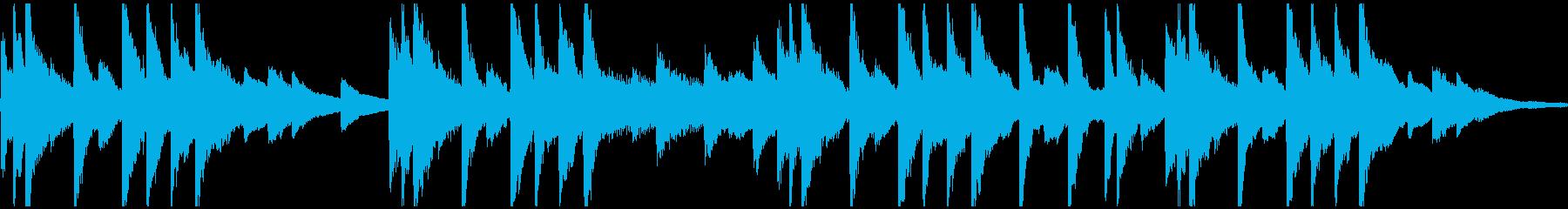 ピアノフレーズが悲しいBGMの再生済みの波形