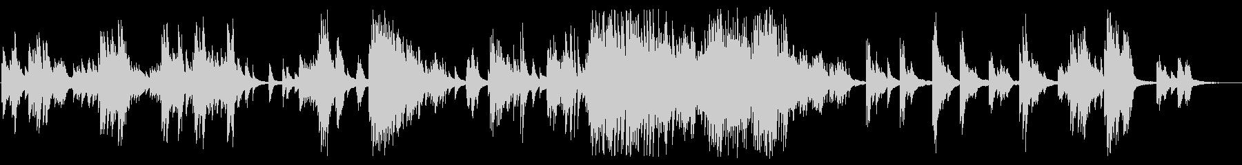 広がりを感じる落ち着いたピアノBGMの未再生の波形