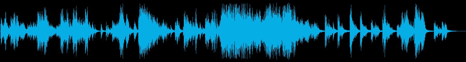 広がりを感じる落ち着いたピアノBGMの再生済みの波形