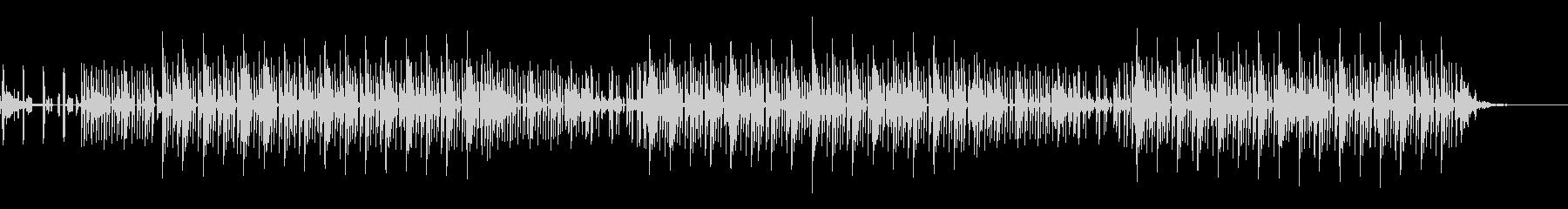 シンセサイザーを使った静かなBGMの未再生の波形