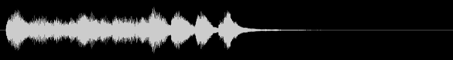 のほほんジングル014_クリアの未再生の波形