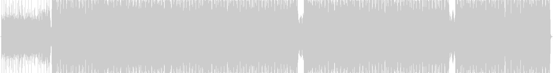 激しく疾走感あるデジタルロックの未再生の波形