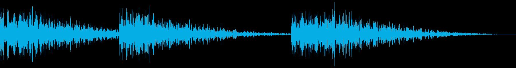 深い怖い影響の再生済みの波形