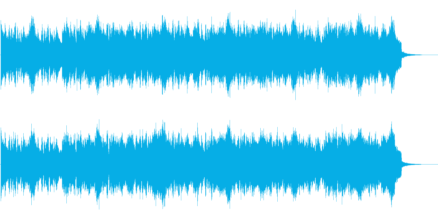 ギターが印象的なスローロックの再生済みの波形