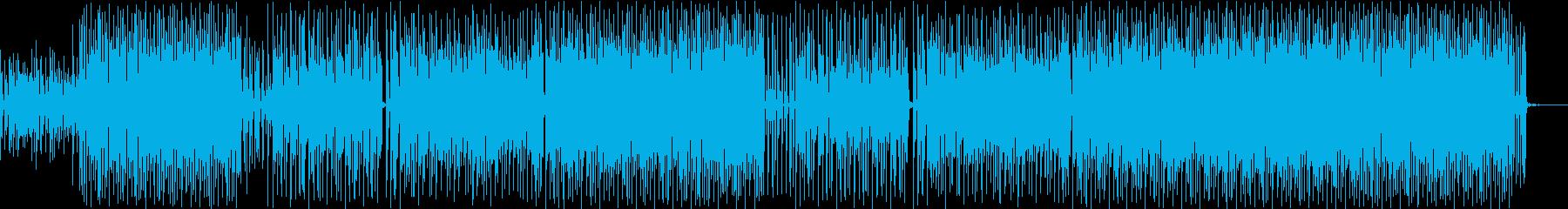 ゆったりした冬のイメージのインスト曲の再生済みの波形