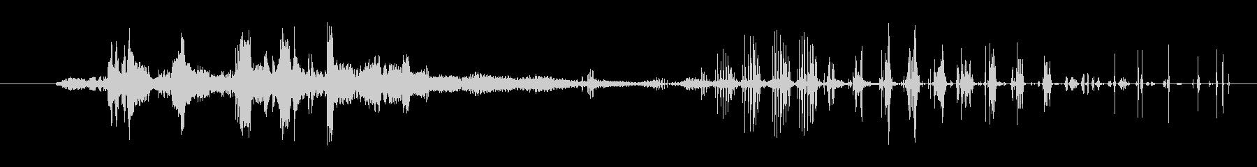特撮 グリッチシュリル01の未再生の波形