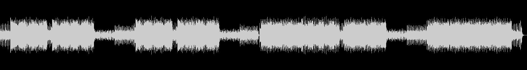 シンセサイザーを使用したノリのいいBGMの未再生の波形